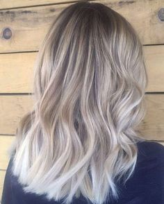 blonde balayage, hair idea, ash blonde, hair color