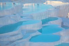 Pamukkale, Turkey - Pamukkale is aptly named, as it means cotton castle in Turkish. Pamukkale is aptly named, as it means cotton castle in Turkish. Pamukkale, Places Around The World, The Places Youll Go, Places To Go, Wonderful Places, Beautiful Places, Amazing Places, Amazing Photos, Places To Travel