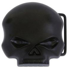 Harley-Davidson® Mens Willie G Skull Belt Buckle. M10080-BLK