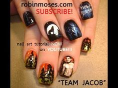 twilight nails TEAM JACOB. jacob black design: robin moses nail art tutorial: