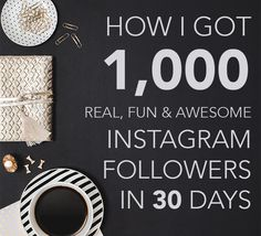 How to Get Real Instagram Followers Doing everything that you can to build your Instagram following, but it's just not working? No worries, let me show you exactly how I grew my Instagram followers to 1,000 in just 30 days! When I first decided to start this blog, I wondered where in the world I…
