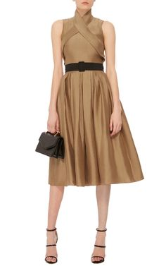 Wrap Dress With Pleated Skirt by MARTIN GRANT Now Available on Moda  Operandi Dress Up Boxes eef6afd941