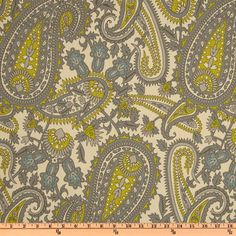 Premier Prints Henna Paisley Summerland Natural - Discount Designer Fabric - Fabric.com