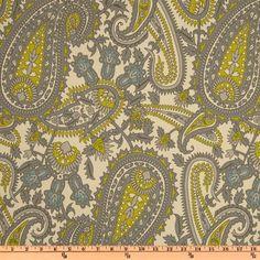Premier Prints Henna Paisley Summerland Natural - Discount Designer Fabric - Fabric.com