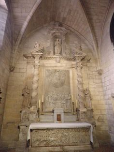 The Chapel of Saint-Genesius (north transept) of the Church of St. Trophime (Trophimus), a Roman Catholic church and former cathedral built between the 12th century and the 15th century in the city of Arles, in the Bouches-du-Rhône Department of southern France.