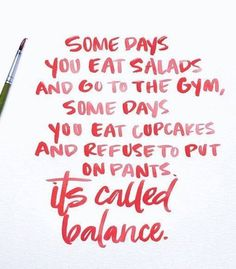 Balance Baby!!!