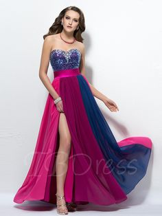 Tbdress.com offers high quality Colourful Sweetheart Split-Front Beading Sequins Prom Dress Latest Prom Dresses unit price of $ 134.99.