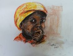 African Smile Nr. 2 Saatchi Art, Pastel, African, Smile, The Originals, Drawings, Pictures, Cake, Sketches