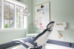Not your typical dental office - we gave this commercial office structure the personal touch. Love the color combinations Interior by Summer Thornton Design Dental Office Design, Home Office Design, Dental Offices, Office Waiting Rooms, Ceiling Plan, Ceiling Lights, False Ceiling Living Room, Interior Design Process, False Ceiling Design