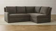 The Petite Cloud Track Arm Corner Sectional NYC