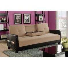 $ DHP Holden Cupholder Futon Sofa Bed with Magazine Storage $489.99 by aminakrom