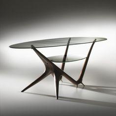 Carlo Mollino,  #1114 Coffee Table for Apelli & Varieso, 1950.