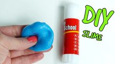 DIY Glue stick slime without borax! How to make slime with glue stick