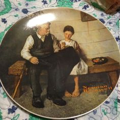 Norman Rockwell collector plate The light house keeper's daughter collector plate in mint condition with authentic certicate beautiful Norman rockwell Other