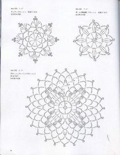 Motif / Edging  Crochet geometric shapes, edgings #Japanese #crochet #book