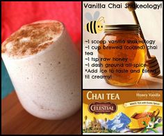 Vanilla Chai Shakeology Recipe ~ Beachbody's Shakeology is the healthiest meal of the day. Shakeology is packed with more than 70 of the world's most potent, most nutritious, and most delicious ingredients.