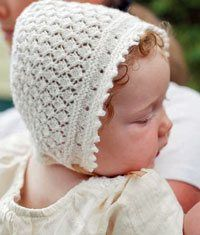 A Knitted Bonnet for Baby - Knitting Daily - Blogs - Knitting Daily