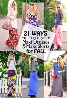 Work appropriate and weekend fun looks for maxi dresses this fall!