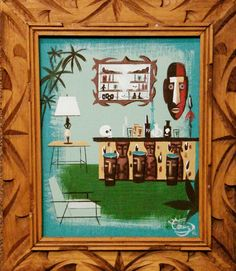 EL GATO GOMEZ PAINTING MID CENTURY MODERN EAMES RETRO WITCO TIKI BAR INTERIOR | eBay | $117.50 (current bid as of 1:42AM EST on 2012-09-14)