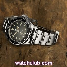 """Rolex Submariner - Vintage """"1968"""" REF: 5513   Year 1968 - Rolex's iconic dive tool, the Submariner has seen many variations since its launch in 1953, but one of the most enduring was the trusty 5513. This example with its rare """"metres first"""" dial was amongst the first to sport the """"all white"""" print we have come to know and love. In superb condition with a nicely aged lume on the hands and good thick lugs. Fitted to a solid link 93150 bracelet - for sale at Watch Club, London"""