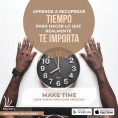 """¿Cómo tener tiempo para hacer lo que realmente te importa? Descúbrelo en menos de 15 minutos 👉 📚 """"Make Time"""" #MakeTime #JakeKnapp #JohnZeratsky @jakek @jazer #vida #objetivos #Salud #exito #negocios #queleer #LibroDelFinDeSemana @my_libers #mylibers Make Time, How To Make, No Me Importa, Ten, App Store, Google Play, Health, Life"""