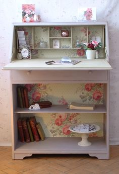 my favourite bureau So pleased that everyone seems to like this bureau as much as I do!  There's lots more similar work on my website, blog and pinterest boards.  Hope you follow me and find future ideas that you like as much! www.shy-violet.co.uk, www.violetcottage.shy-violet.co.uk