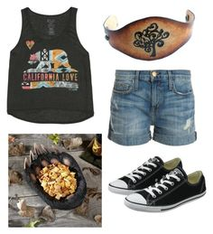 """"""""""" by crissyreyes17 ❤ liked on Polyvore featuring moda, Billabong, Current/Elliott y Converse"""
