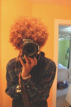 Love the color.   Natural Hair.