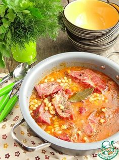 Фасоль с копченой свининой по-румынски - кулинарный рецепт