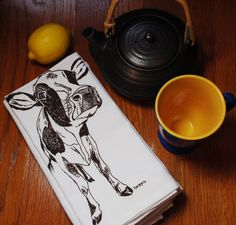 Table Napkins Screen Printed Recycled Cotton $24 Click Here: https://www.etsy.com/listing/181984994/table-napkins-screen-printed-recycled?utm_source=Pinterest&utm_medium=PageTools&utm_campaign=Share
