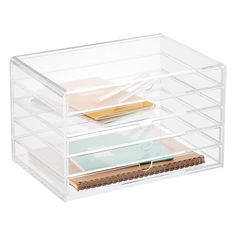 HOME OFFICE 5-Drawer Premium Acrylic Accessory Box