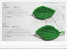 Crochet Leaf Patterns, Crochet Doily Diagram, Crochet Flower Tutorial, Crochet Leaves, Crochet Motif, Crochet Doilies, Crochet Flowers, Crochet Stitches, Diy Crochet And Knitting