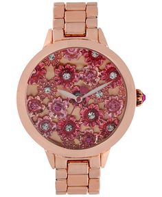Betsey Johnson Women's Rose Gold-Tone Bracelet Watch 42mm BJ00443-02 - Watches - Jewelry & Watches - Macy's