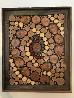 Your place to buy and sell all things handmade Rustic Wood Decor, Rustic Frames, Picture Wire Hanging, Woodworking Projects Diy, Woodworking Software, Woodworking Bench, Wood Projects, Wood Circles, Diy Wall Art