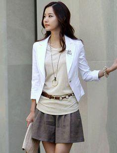 Trendy 3/4 Sleeve Basic Blazer. #cute #work #style