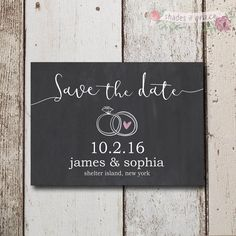 Save The Dates, Rustic Save The Date Invites, Chalk Invitation, DIY Invites, DIY Save The Date, Thank You Cards, Download by ShadesOfGrace1 on Etsy