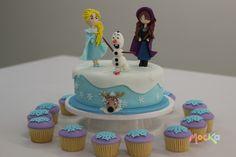 #Ponque de #Frozen  www.mocka.co  #mocka #pasteleria #cakeshop #elsa #olaf…
