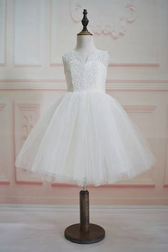 Ivory Lace Tulle Flower Girl Dress 2966867e0
