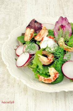 Flusskrebse im Salat - Rezept