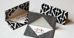 DIY Oragami Business Card Holder - Use paper or oilcloth for a more durable one. See Next pin in board.