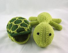 Knit Turtle - He comes out of his shell! #Cute