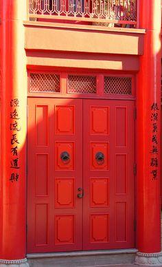 Red door by JGou, via Flickr