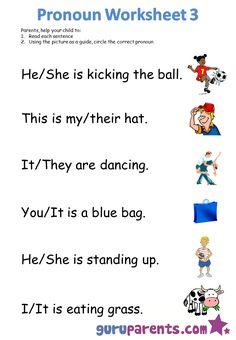 Pronoun worksheet 3
