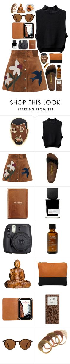 """heidi"" by gemmonkey ❤ liked on Polyvore featuring Georgia Perry, RED Valentino, Birkenstock, Kate Spade, MiN New York, Fuji, Aveda, Bowie, Cole Haan and Ray-Ban"