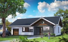 Facade House, Home Fashion, Interior And Exterior, House Plans, Villa, Outdoor Structures, Cabin, House Design, How To Plan