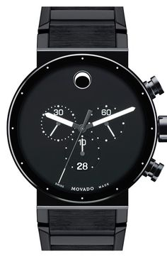 Movado 'Sapphire Synergy' Chronograph Bracelet Watch, 42mm available at #Nordstrom