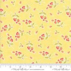 Coney Island Buttercup Yellow Fabric   Yellow Floral by Jambearies