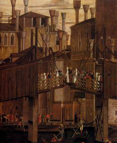 c.1496. Vittore CARPACCIO,The Healing of the Madman.Tempera on canvas,365x 389 cm Gallerie dell'Accademia,Venice.