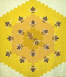 Wow! Bee quilt by Hope Johnson