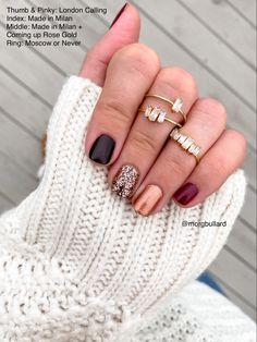 Stylish Nails, Trendy Nails, Nail Art Paillette, Nail Color Combos, Gel Nail Color Ideas, Nagellack Design, Manicure Y Pedicure, Nail Envy, Dipped Nails